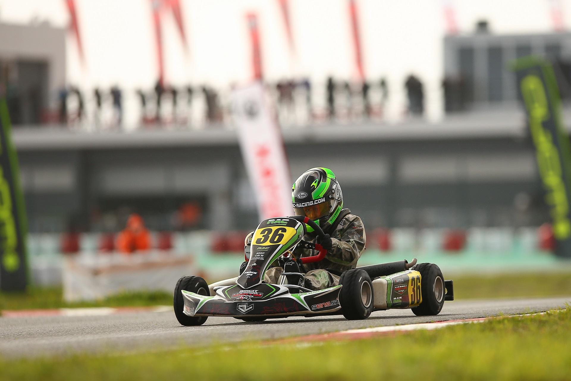Martim Marques foi hoje 3.º classificado na 1.ª manga do Rotax International Trophy