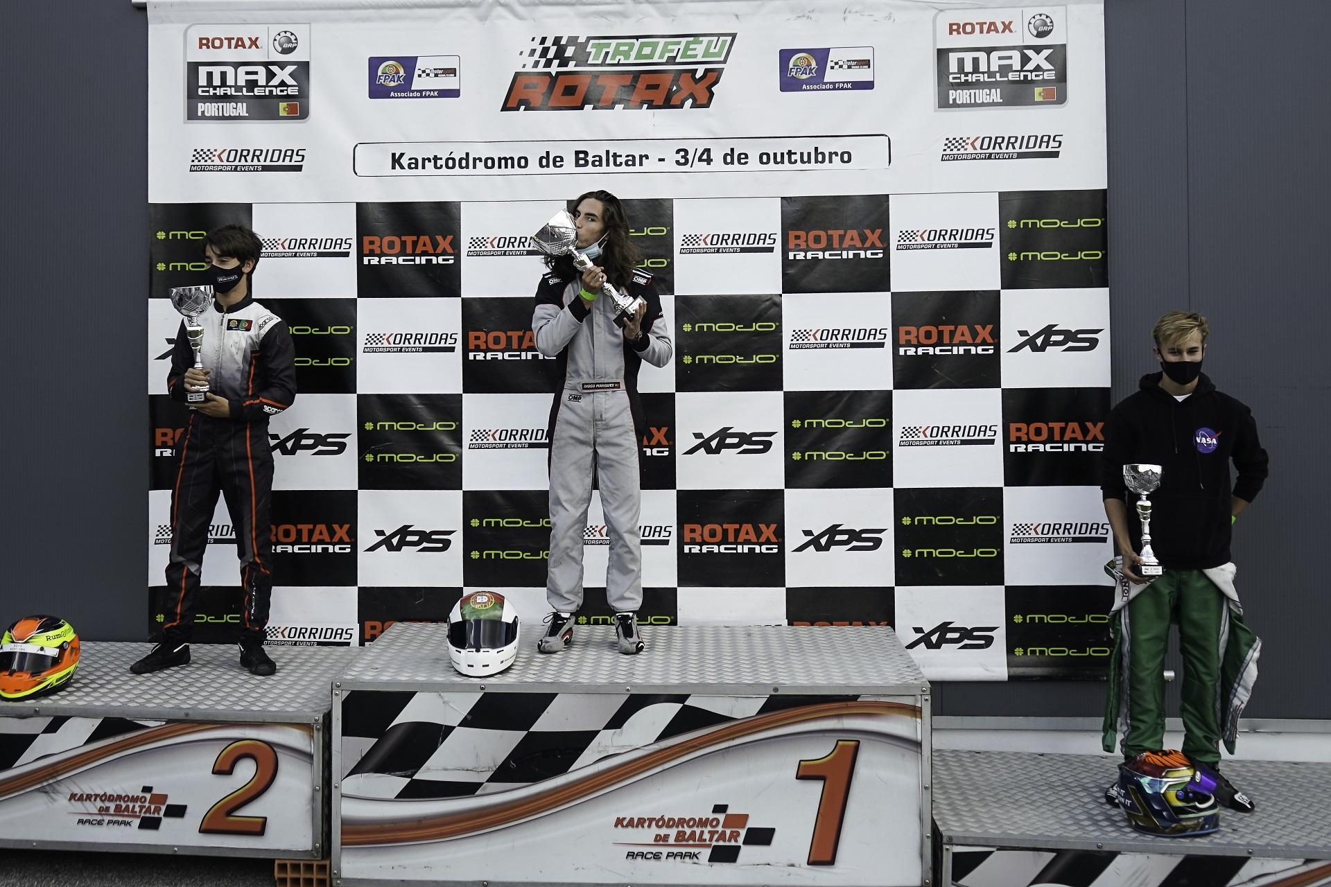 Vitória de Diogo Marques na categoria Sénior Max do Troféu Rotax em Baltar