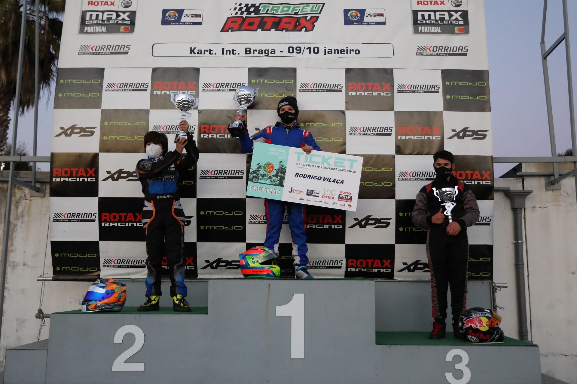 Rodrigo Vilaça vence em Braga e sagra-se com distinção campeão do Troféu Rotax Mini-Max