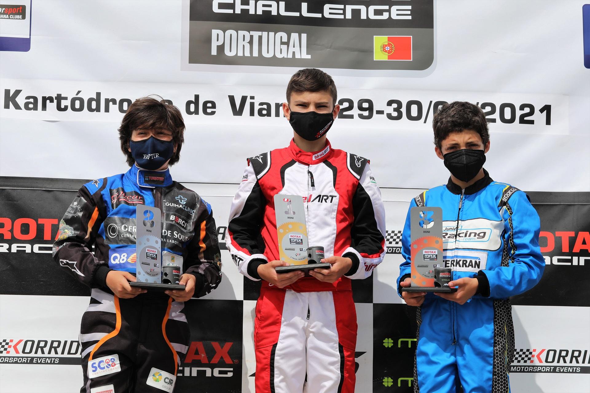 Salvador Trindade volta a triunfar no Troféu Rotax da categoria Mini-Max