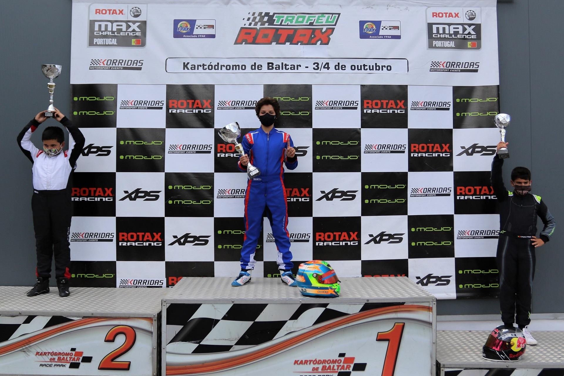 Rodrigo Vilaça vence na categoria Mini-Max do Troféu Rotax em Baltar