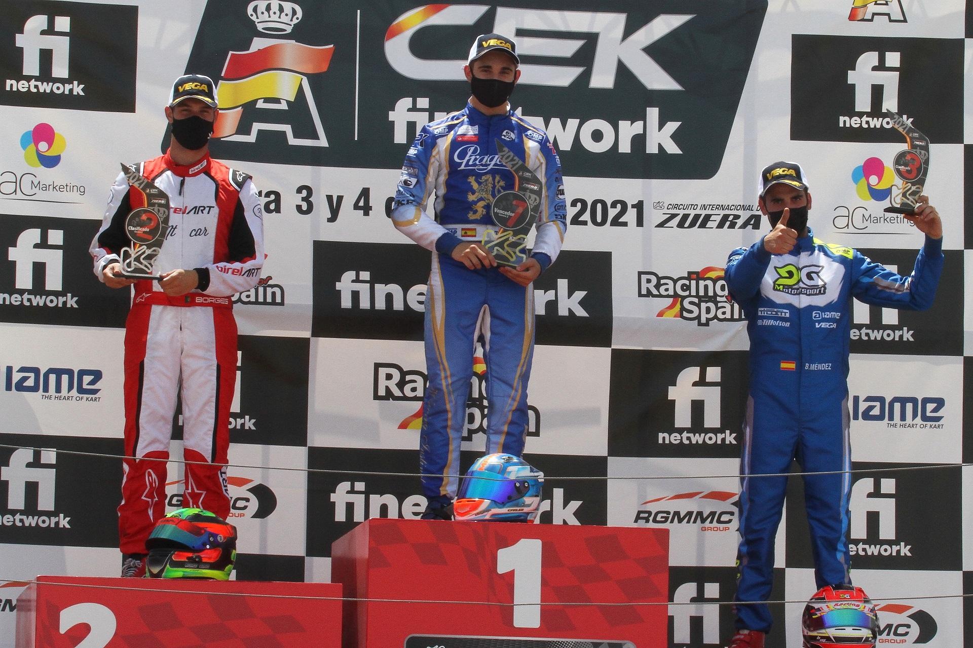 Ricardo Borges estreia-se na KZ e garante no pódio no Campeonato de Espanha